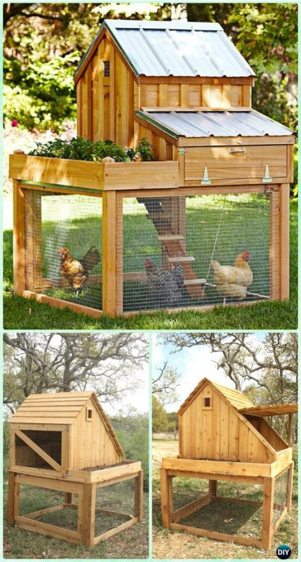 Chicken Coop with Planter - 61 DIY Chicken Coop Plans That Are Easy To Build (100% Free)