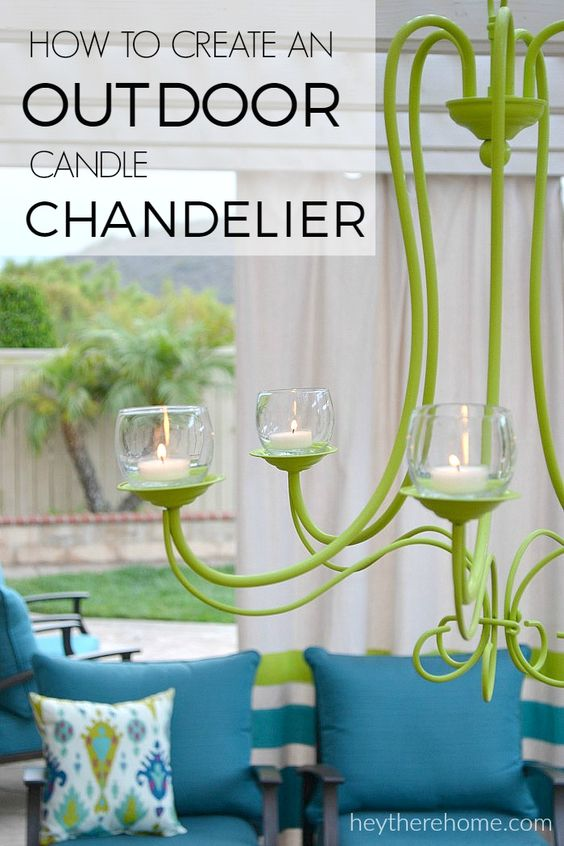 34 beautiful diy chandelier ideas that will light up your home the outdoor candle chandelier aloadofball Choice Image