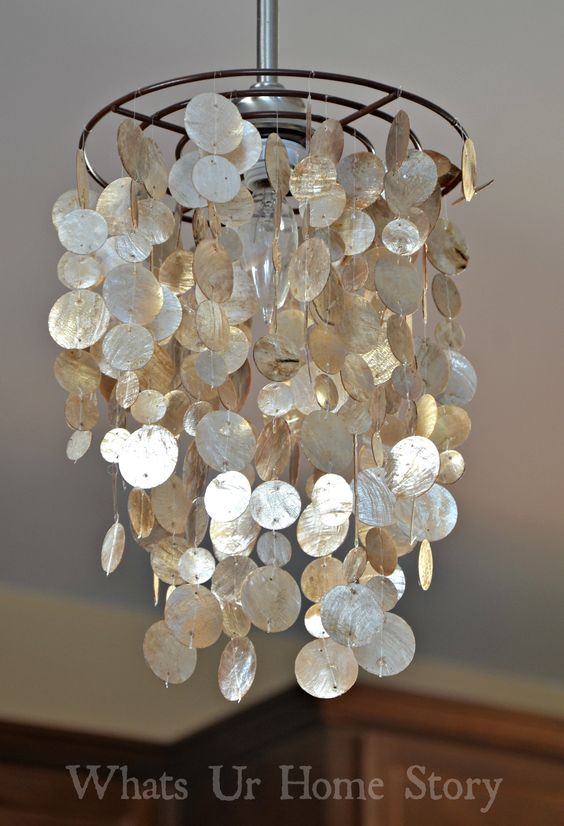 34 beautiful diy chandelier ideas that will light up your home diy capiz chandelier aloadofball Gallery