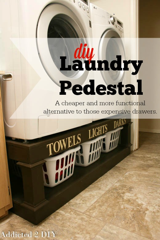 39 clever laundry room ideas that are practical and space efficient the diy laundry pedestal do you have a front loader washerdryer set if so then you might want a way to bring them up to your level to save your back solutioingenieria Image collections