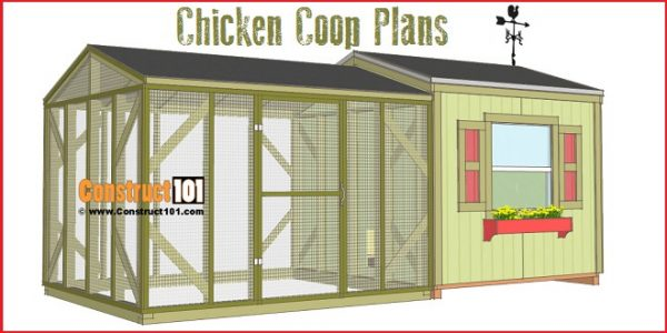 61 diy chicken coop plans that are easy to build 100 free for Poultry house plans for 100 chickens
