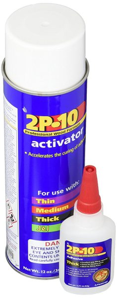 FastCap 2P-10 Super Glue Adhesive Thick and 12 Ounce Activator Combo Pack