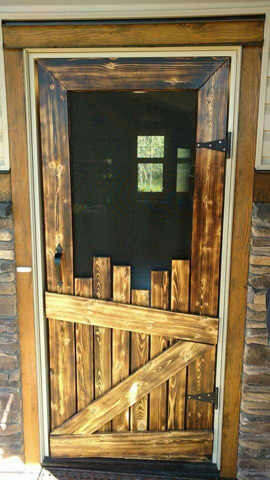 The Wooden Screen Door & 24 Awesome DIY Screen Door Ideas to Build New or Upcycle the Old