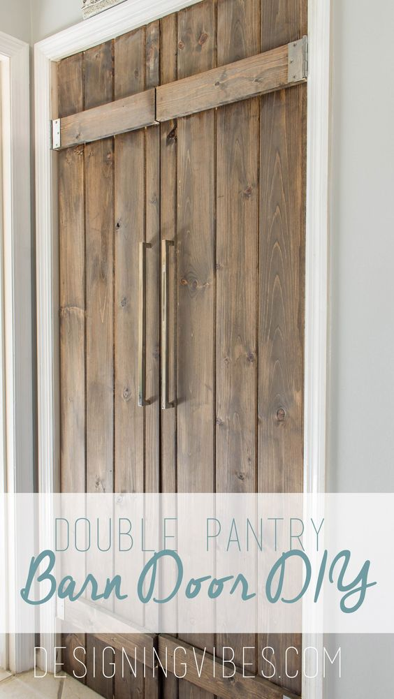 53 creative and gorgeous diy barn door plans and ideas page 2 of 3 barn door double pantry solutioingenieria Choice Image