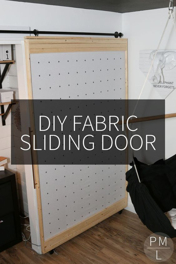 The Fabric Barn Door & 53 Creative and Gorgeous DIY Barn Door Plans and Ideas