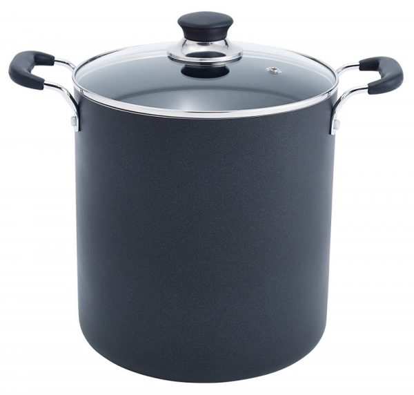 T-fal Black Aluminum Stockpot