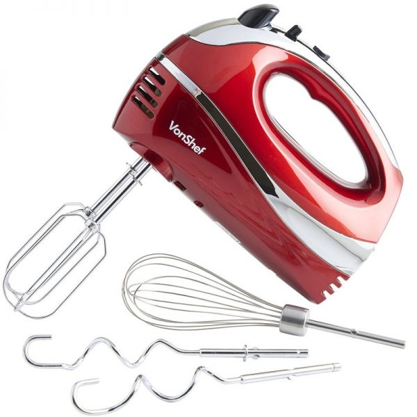 VonShef Red Hand Mixer