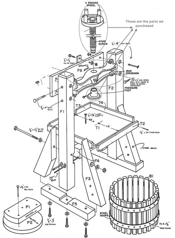 18 easy to follow diy cider press plans to make your own