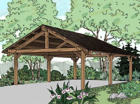 20 stylish diy carport plans that will protect your car from the this carport is very similar to what i would like to build in the near future at my own home it looks nice and also simple enough to diy solutioingenieria Gallery