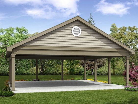 20 stylish diy carport plans that will protect your car for Garage designs com
