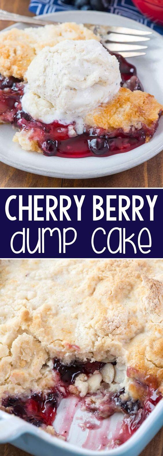 Berry Cream Cheese Dump Cake