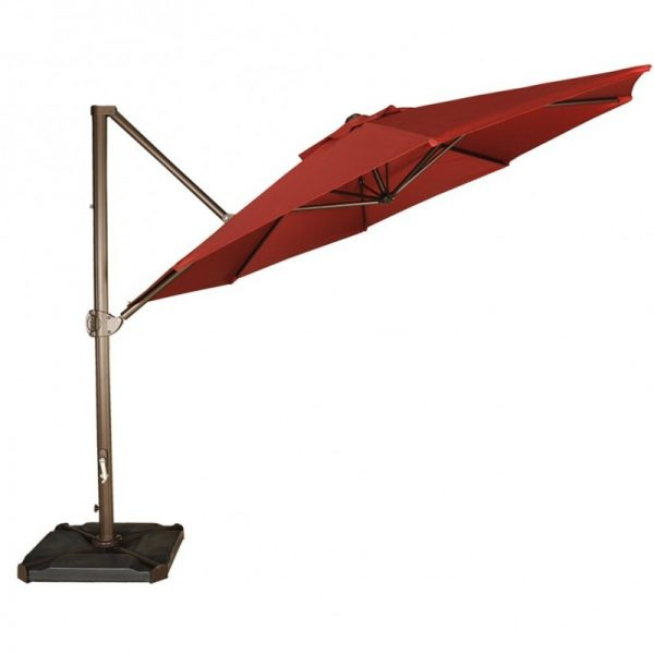 Abba Patio 11-Foot Offset Cantilever Patio Hanging Umbrella