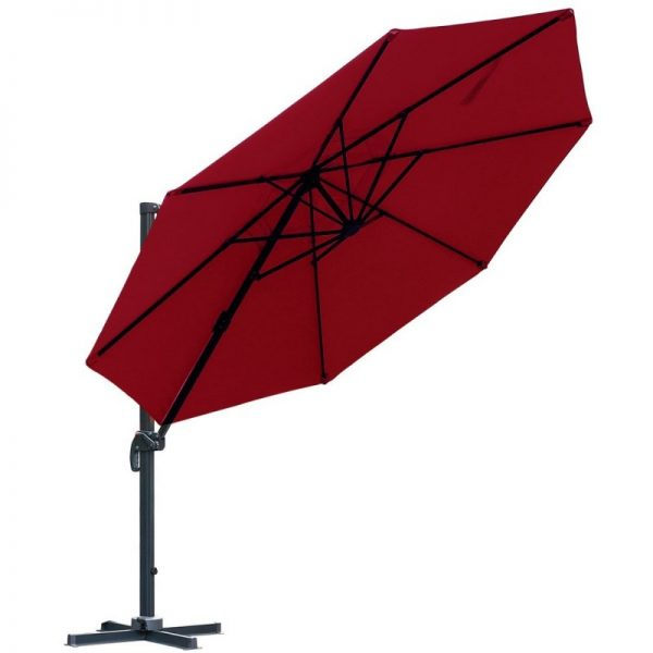 Farland Patio 11-Foot Offset Cantilever Umbrella Hanging Umbrella