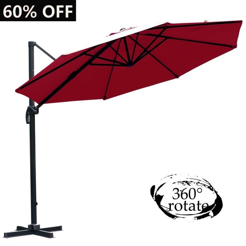 Farland Patio 11 Foot Offset Cantilever Umbrella Hanging
