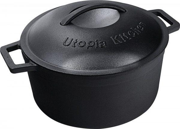 Utopia Kitchen Pre Seasoned Cast Iron 5-quart Dutch Oven