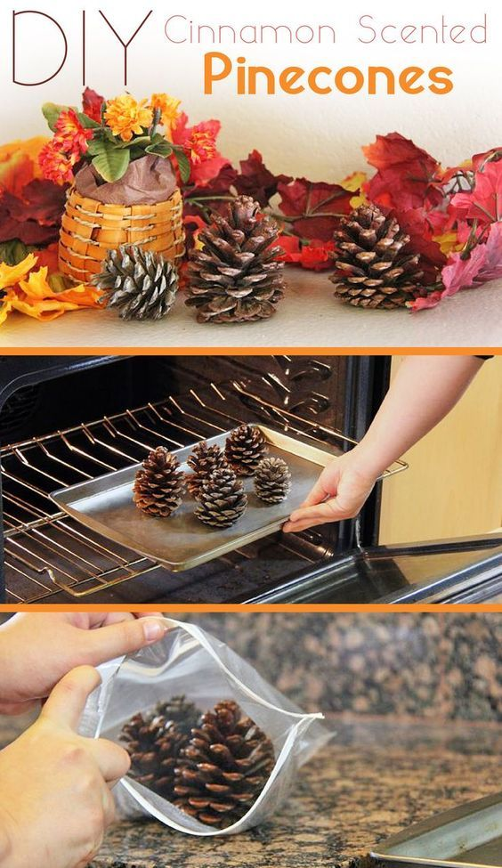 41 fabulous thanksgiving crafts that are sure to inspire you diy cinnamon scented pinecones solutioingenieria Choice Image