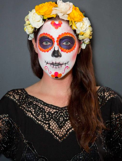 inspired by the mexican day of the dead this sugar skull halloween makeup look has become popular in recent years