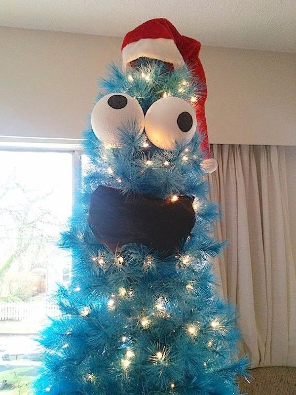 cookie monster tree - Christmas Tree Decorations For Kids