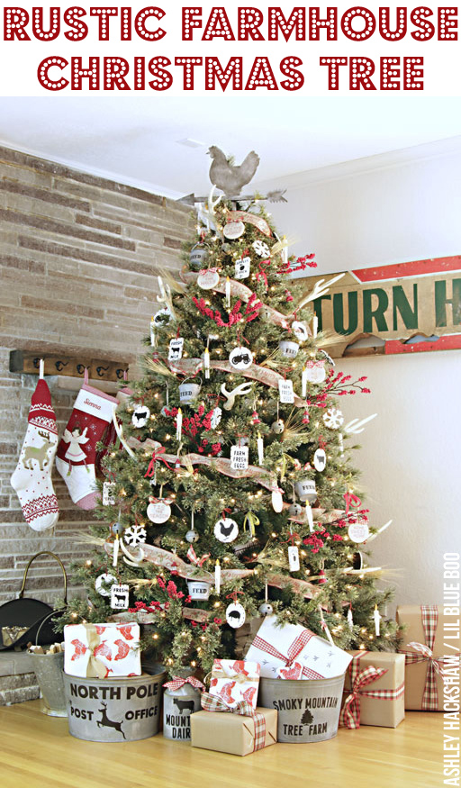 rustic farmhouse christmas tree