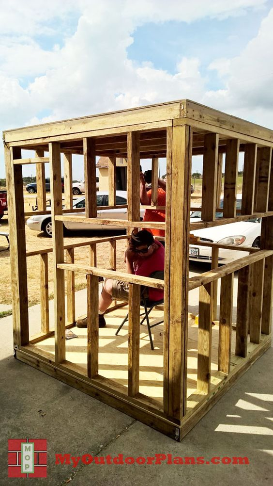 20 free diy deer stand plans and ideas perfect for hunting season diy deer blind this blind is another one that im very fond of i like how they shared pictures of their actual build instead of just computer generated solutioingenieria Gallery