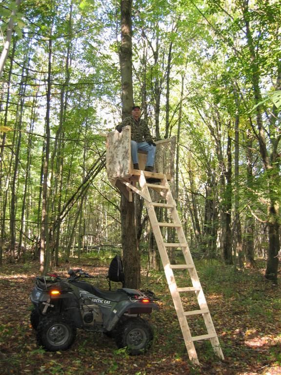 20 free diy deer stand plans and ideas perfect for hunting for Climbing tree stand plans