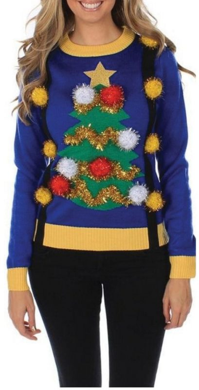 51 ugly christmas sweater ideas so you can be gaudy and festive this tacky christmas sweater can actually be purchased at the link below if you want to skip trying to make it yourself solutioingenieria Image collections