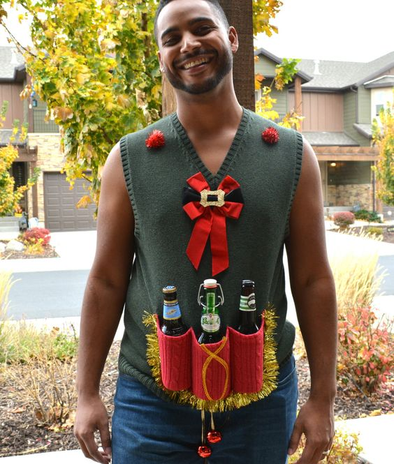 Ugly christmas jumpers - beer