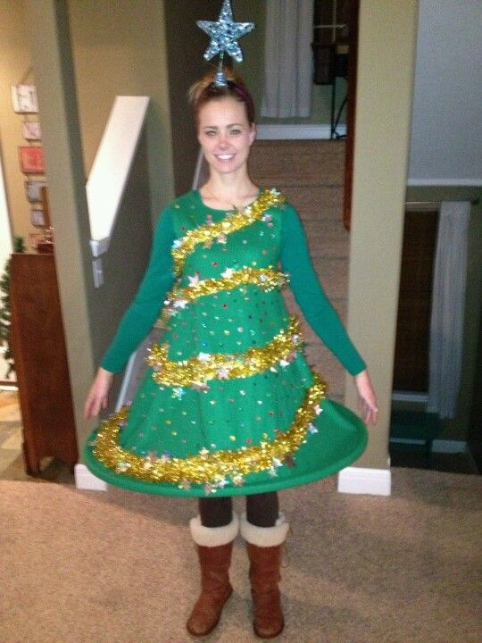 Become a Christmas Tree - 51 Ugly Christmas Sweater Ideas So You Can Be Gaudy And Festive
