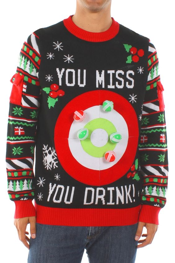 Ugly christmas jumpers - darts