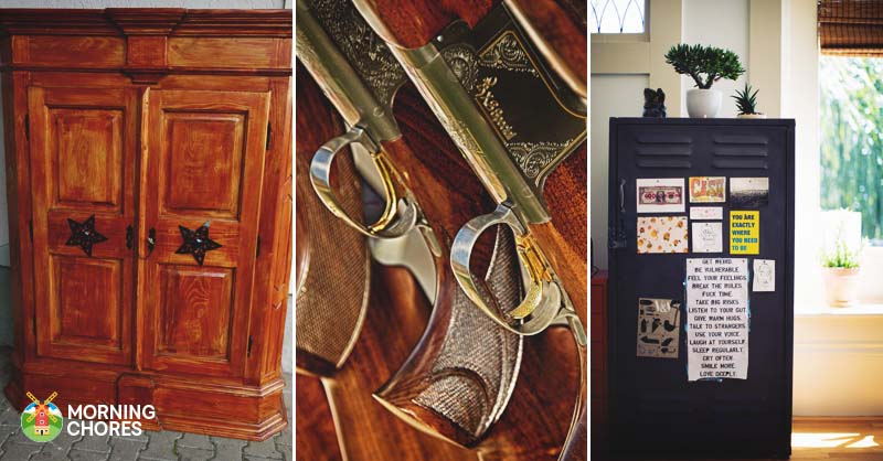 21 interesting gun cabinet and rack plans to securely store your guns malvernweather Gallery