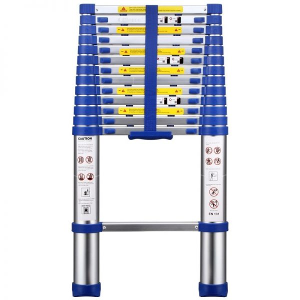 OLLIEROO TL03124 EN131 13.4-foot Telescopic Extension Ladder
