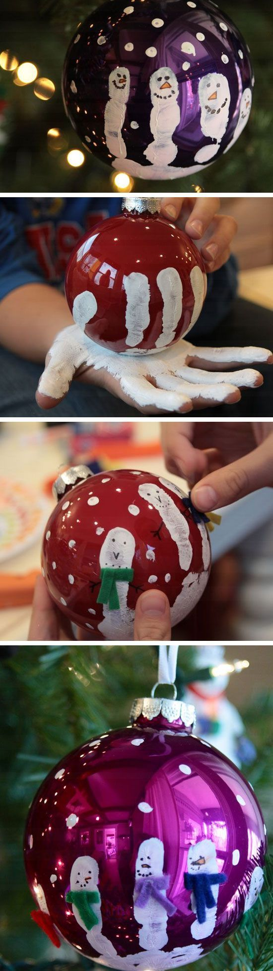 19. The Handprint Snowman Ornament