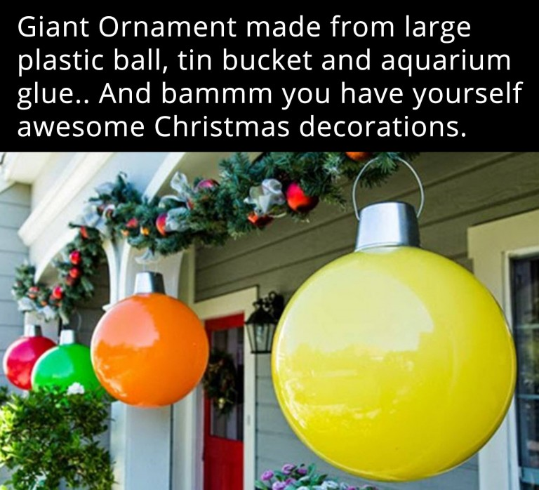 28 dazzling christmas decoration ideas so you can deck your halls do you like to decorate with giant ornaments if youve seen them at the store they can actually be quite expensive to purchase solutioingenieria Gallery