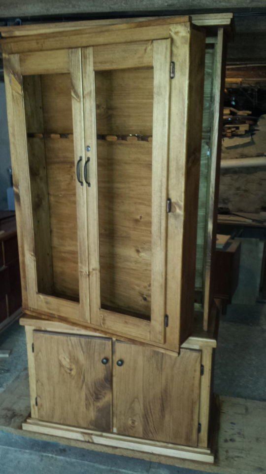 This Gun Cabinet Is So Cool By The Looks Of It Just A Typical With Cupboard At Bottom To Your Handguns Or Ammo
