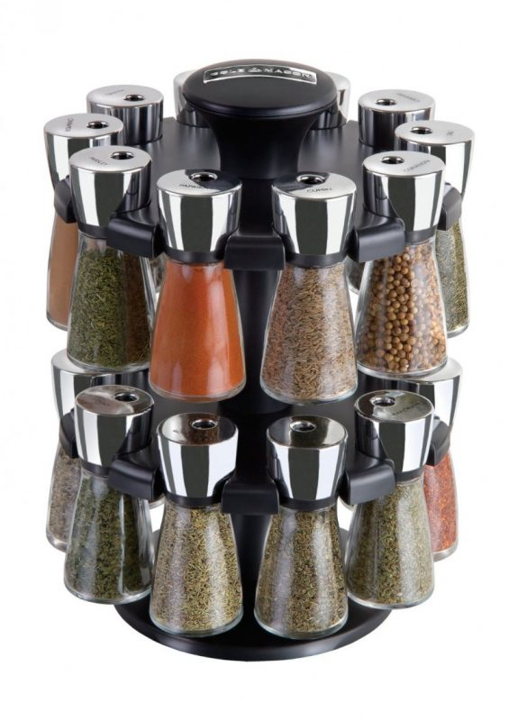 Cole & Mason Herb and Spice Revolving Spice Rack Countertop Carousel Set