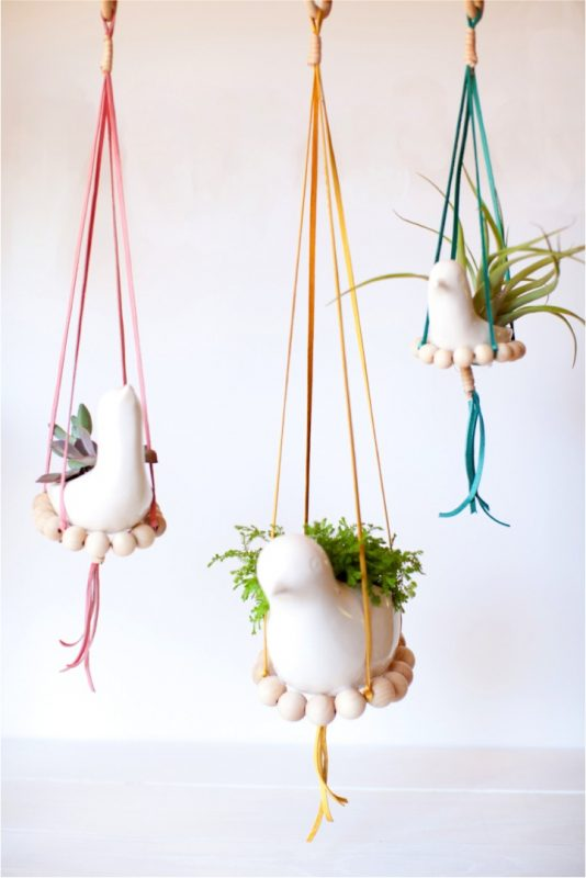 nesting bird hanging planter - Diy Hanging Planter