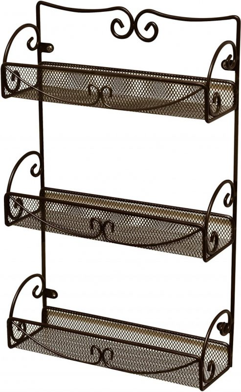DecoBros 3 Tier Wall Mounted Spice Rack