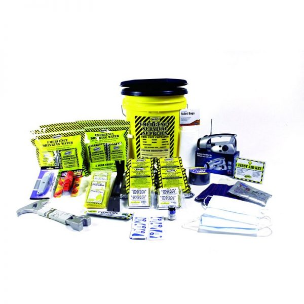 Mayday Industries 4 Person Deluxe Home Honey Bucket Survival Emergency Kit
