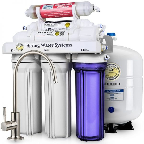 ISpring 6 Stage Under Sink Reverse Osmosis Drinking Water Filtration System
