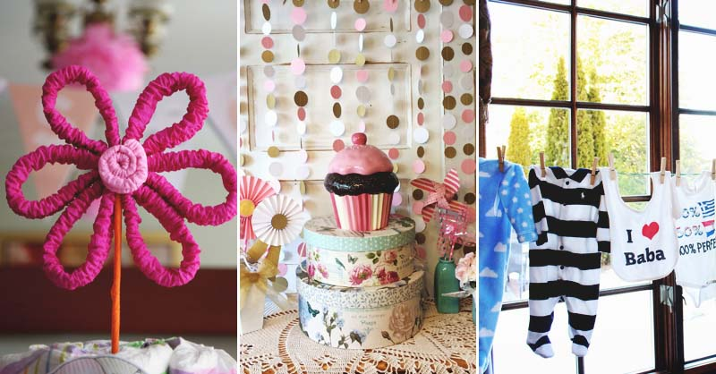 Diy Crafts For Baby Room: 21 DIY Baby Shower Decorations To Surprise And Spoil Any