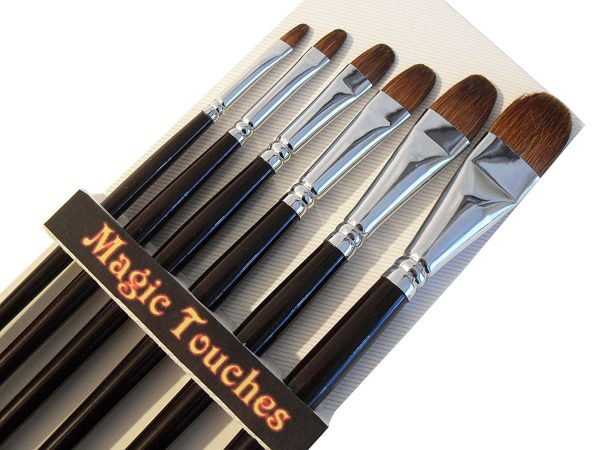 Magic Touches Red Sable (Weasel Hair) 6-pack Brush Set