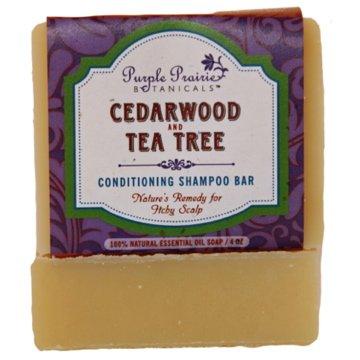 Purple Prairie Botanicals Cedarwood & Tea Tree Shampoo Bar Soap