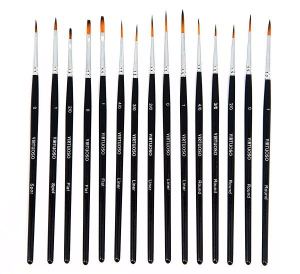 Virtuoso 15-Piece Fine Paint Brush Set