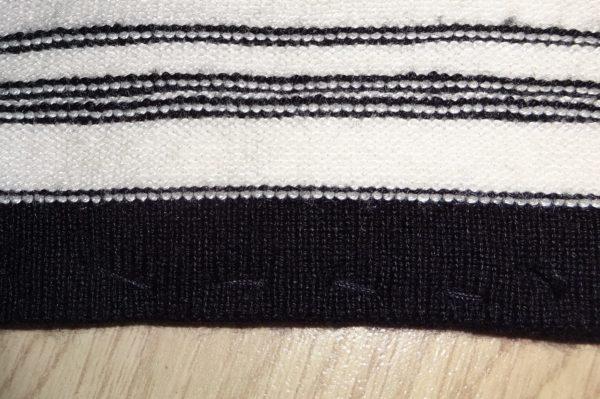 showing stitching