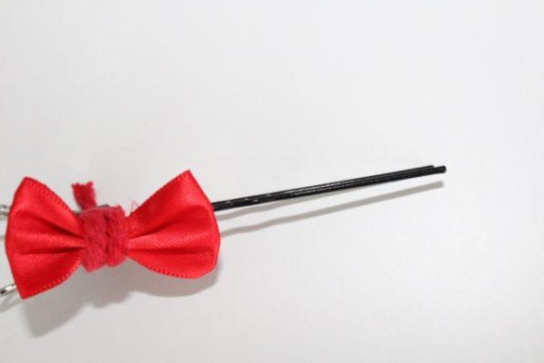 Bobby pin bow decoration
