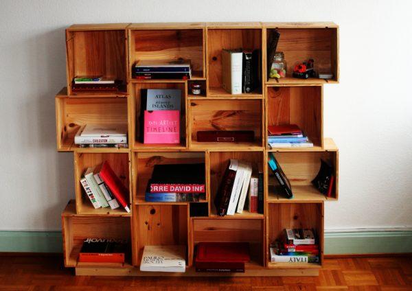 3 Wine Box Shelves