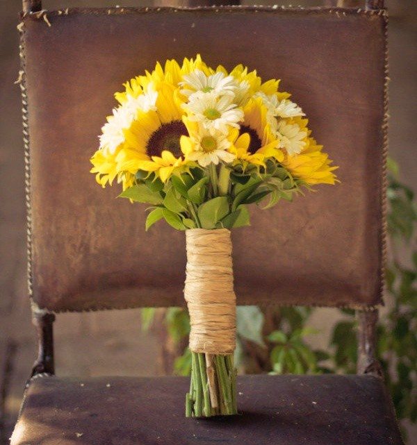 Wedding Bouquet With Sunflowers - Flowers Healthy
