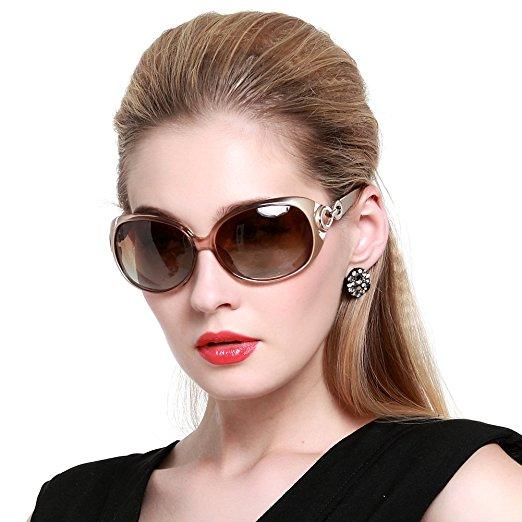 Duco Womens Shades Classic Oversized Polarized Sunglasses