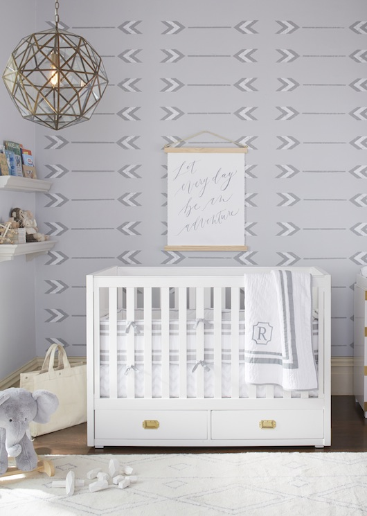 This Nursery Is Neutral And Simple But Has A Calming Relaxing Feeling Beautiful Mix Of Soft Tones With Geometric Shapes