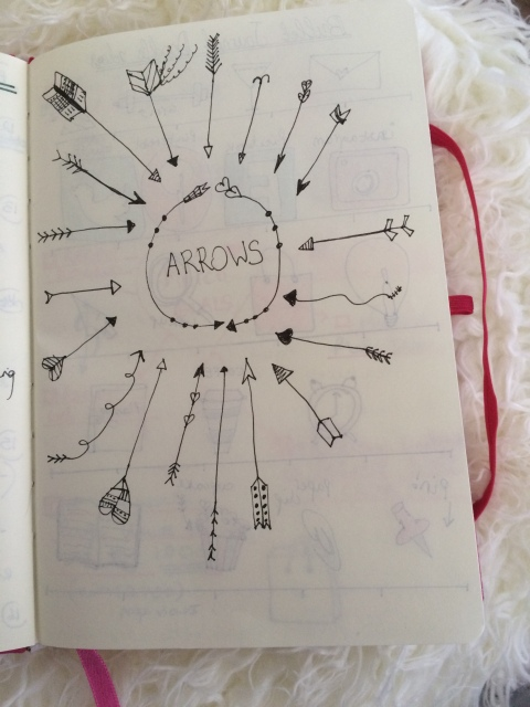 bullet journal different types of arrows